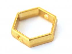 Connecteur hexagonal - doré à l'or fin  - 2