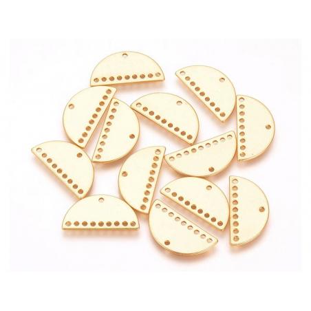 Connecteur demi-cercle 20mm - doré à l'or fin  - 4