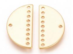 Connecteur demi-cercle 20mm - doré à l'or fin  - 5