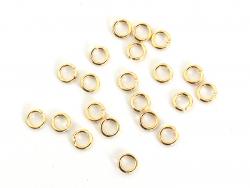 Acheter 20 anneaux 3mm - dorés à l'or fin 18K - 0,99€ en ligne sur La Petite Epicerie - Loisirs créatifs