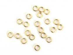 20 anneaux 2mm - dorés à l'or fin  - 1
