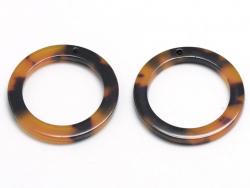 Acheter Pendentif anneau 12 mm écaille de tortue en acétate - 0,59€ en ligne sur La Petite Epicerie - Loisirs créatifs