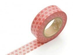 Masking tape motif - Asanoha rouge