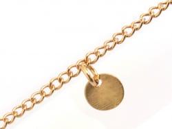 Acheter Chaîne gourmette à sequins ronds - doré à l'or fin 24 K x 20 cm - 1,59€ en ligne sur La Petite Epicerie - 100% Loisi...