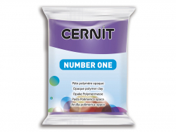 Pâte CERNIT Basic Number One - Violet 50% opacité Cernit - 1