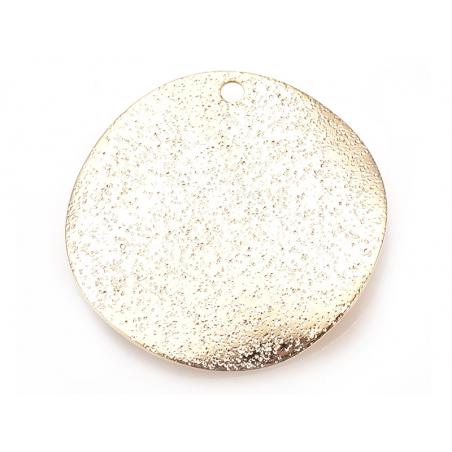 Acheter Pendentif rond ondulé et martelé 20 mm - doré à l'or fin - 0,69€ en ligne sur La Petite Epicerie - 100% Loisirs créa...