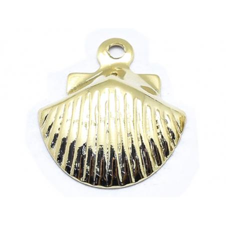 Pendentif petit coquillage - doré à l'or fin 18K  - 1