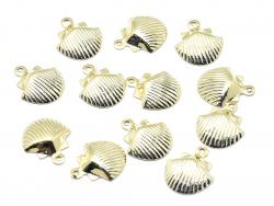 Pendentif petit coquillage - doré à l'or fin 18K  - 2