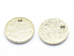 Acheter Pendentif sequin rond martelé 8mm - doré à l'or fin 18K - 0,89€ en ligne sur La Petite Epicerie - 100% Loisirs créatifs