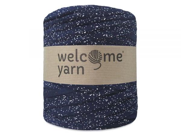 Grande bobine de fil trapilho - bleu moucheté Welcome Yarn - 1