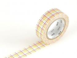 Masking tape motif - cahier ligné rouge