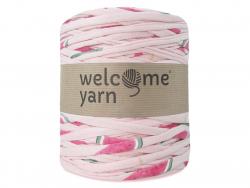 Grande bobine de fil trapilho - motifs roses Welcome Yarn - 1
