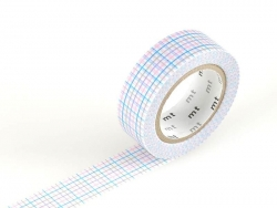 Masking Tape mit Motiv - blaue, grüne, lila- und rosafarbene Quadrate