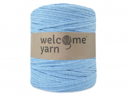 Grande bobine de fil trapilho - tweed bleu Welcome Yarn - 1