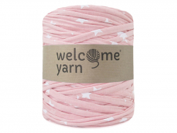 Grande bobine de fil trapilho - motifs roses étoiles Welcome Yarn - 1
