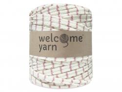 Grande bobine de fil trapilho - rayures vieux rose Welcome Yarn - 1