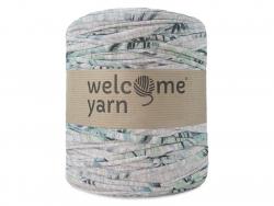 Grande bobine de fil trapilho - motifs vert et gris Welcome Yarn - 1