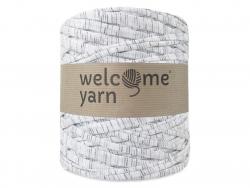 Grande bobine de fil trapilho - fines rayures grises Welcome Yarn - 1
