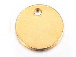 Pendentif sequin rond 8mm - doré à l'or fin 18K  - 1