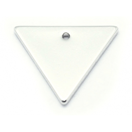 Pendentif triangle - plaqué argent 925  - 1