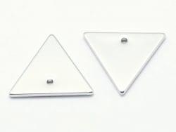 Pendentif triangle - plaqué argent 925  - 2