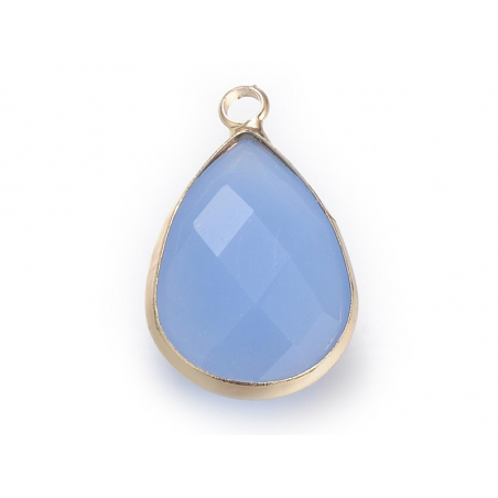 Acheter Pendentif goutte en verre à facettes - bleu lilas - 1,09€ en ligne sur La Petite Epicerie - Loisirs créatifs