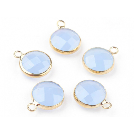 Acheter Pendentif rond en verre à facettes 10mm - bleu lilas - 1,49€ en ligne sur La Petite Epicerie - Loisirs créatifs