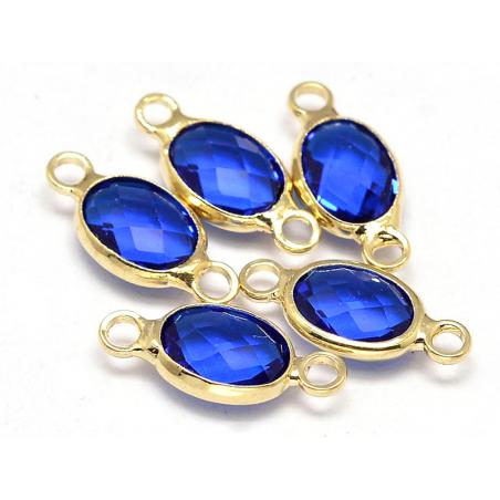 Acheter Connecteur ovale à facettes 15mm - bleu - 1,39€ en ligne sur La Petite Epicerie - Loisirs créatifs