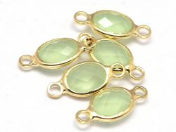 Acheter Connecteur ovale à facettes 15mm - vert clair - 1,39€ en ligne sur La Petite Epicerie - 100% Loisirs créatifs