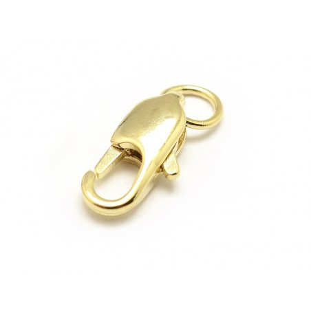 Acheter Fermoir mousqueton allongé 11mm avec anneau - doré à l'or fin - 1,19€ en ligne sur La Petite Epicerie - 100% Loisirs...
