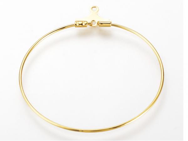 Acheter Lot de 2 intercalaires créoles 35mm - doré à l'or fin 18K - 0,99€ en ligne sur La Petite Epicerie - Loisirs créatifs