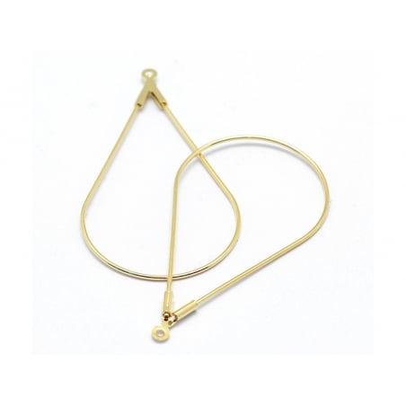 Acheter Lot de 2 intercalaires gouttes - doré à l'or fin 18K - 1,49€ en ligne sur La Petite Epicerie - Loisirs créatifs