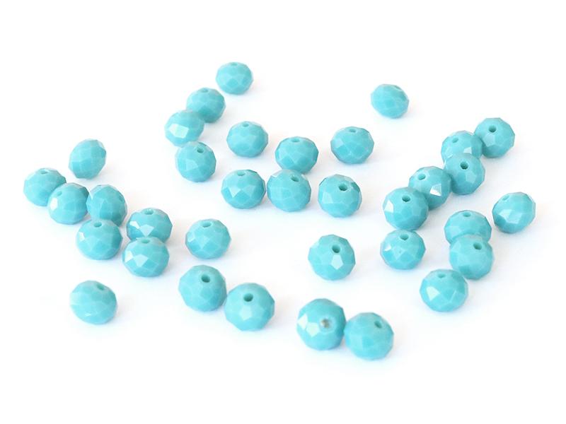 Acheter Lot de 50 perles à facettes en verre 4x6 mm - vert d'eau - 1,59€ en ligne sur La Petite Epicerie - 100% Loisirs créa...