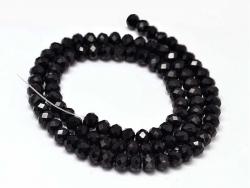 Acheter Lot de 50 perles à facettes en verre 4x6 mm - noir - 1,59€ en ligne sur La Petite Epicerie - Loisirs créatifs