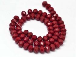 Acheter Lot de 50 perles à facettes en verre 8x6 mm - bordeaux - 3,19€ en ligne sur La Petite Epicerie - 100% Loisirs créatifs