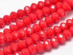 Acheter Lot de 50 perles à facettes en verre 8x6 mm - rouge - 3,19€ en ligne sur La Petite Epicerie - 100% Loisirs créatifs
