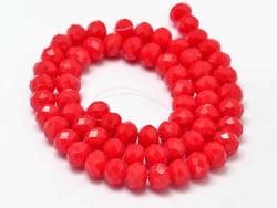 Acheter Lot de 50 perles à facettes en verre 8x6 mm - rouge - 3,19€ en ligne sur La Petite Epicerie - Loisirs créatifs