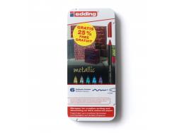 Acheter Boite de 6 feutres de coloriage Edding - couleurs métalliques - 9,89€ en ligne sur La Petite Epicerie - 100% Loisirs...