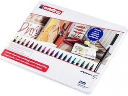 Boîte de 20 feutres EDDING 1300 - point ogive 2mm Boîte de 20 feutres EDDING 1300 - écrire colorier et dessiner