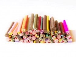 Set of 45 sweets canes made of Fimo