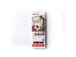 Acheter Lot de 6 feutres Edding pour porcelaine - couleurs chaudes - 9,89€ en ligne sur La Petite Epicerie - 100% Loisirs cr...