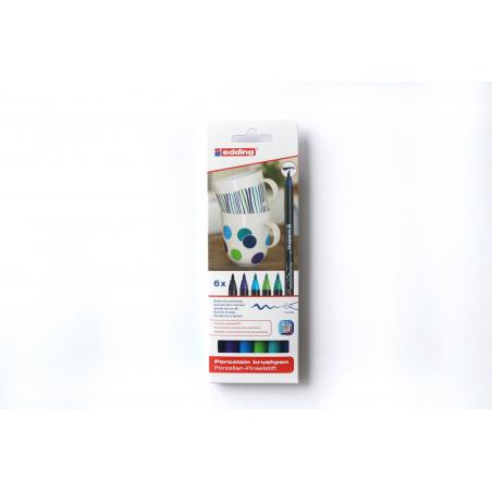 Acheter Lot de 6 feutres Edding pour porcelaine - couleurs froides - 9,89€ en ligne sur La Petite Epicerie - Loisirs créatifs