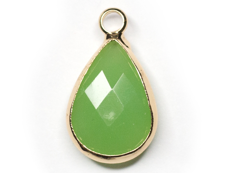 Acheter Pendentif goutte en verre à facettes - vert clair - 1,09€ en ligne sur La Petite Epicerie - 100% Loisirs créatifs