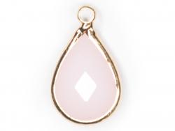 Acheter Pendentif goutte en verre à facettes - rose clair - 1,09€ en ligne sur La Petite Epicerie - 100% Loisirs créatifs