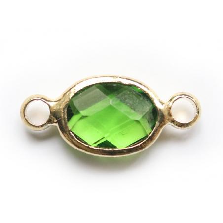 Acheter Connecteur ovale à facettes 15mm - vert - 1,39€ en ligne sur La Petite Epicerie - Loisirs créatifs