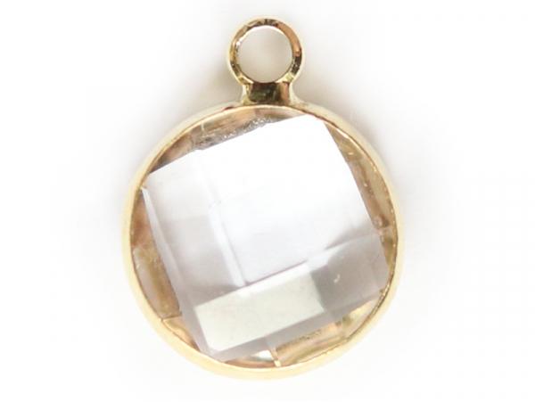 Acheter Pendentif rond en verre à facettes 10mm - cristal - 1,49€ en ligne sur La Petite Epicerie - Loisirs créatifs