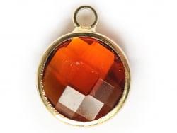 Acheter Pendentif rond en verre à facettes 10mm - ambre - 1,49€ en ligne sur La Petite Epicerie - 100% Loisirs créatifs