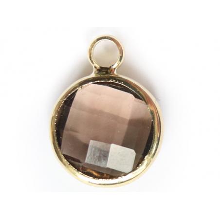 Acheter Pendentif rond en verre à facettes 10mm - gris cristal - 1,49€ en ligne sur La Petite Epicerie - 100% Loisirs créatifs