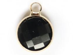 Acheter Pendentif rond en verre à facettes 10mm - noir - 1,49€ en ligne sur La Petite Epicerie - 100% Loisirs créatifs