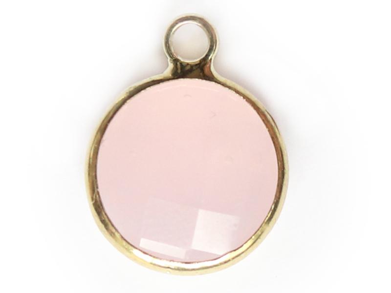 Acheter Pendentif rond en verre à facettes 10mm - rose - 1,49€ en ligne sur La Petite Epicerie - 100% Loisirs créatifs